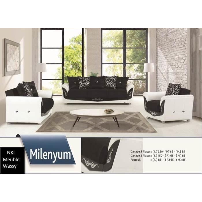 Salon milenyum achat vente salon complet cdiscount for Achat salon complet
