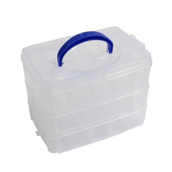 boite de rangement organiseur en plastique transparent 3