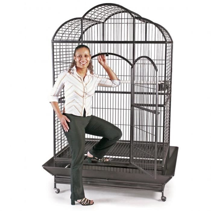 voli re cage pour perroquet perruche zeus ii 104x71x164cm achat vente voli re cage oiseau. Black Bedroom Furniture Sets. Home Design Ideas