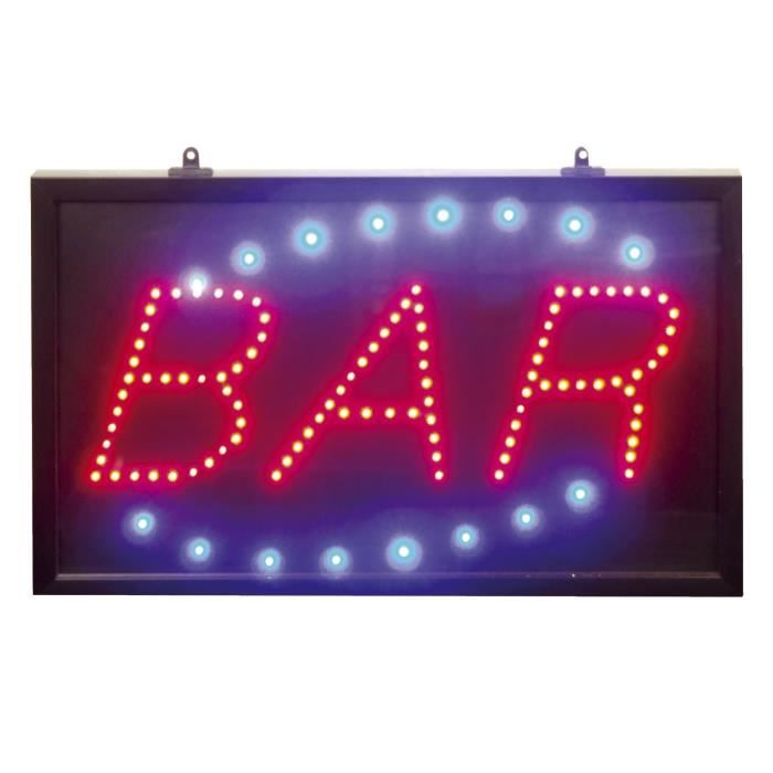 lampe neon afficheur panneau enseigne lumineuse a led bar pub biere cafe achat vente. Black Bedroom Furniture Sets. Home Design Ideas
