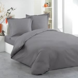 housse de couette 200x200 gris achat vente housse de couette cdiscount. Black Bedroom Furniture Sets. Home Design Ideas