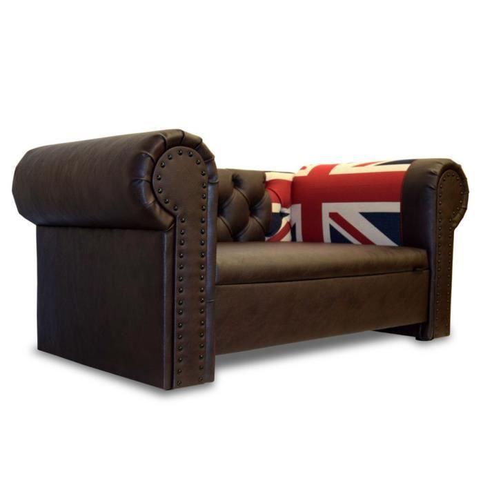 Canape Pour Chien Oxford Edy Design Marron Foncé