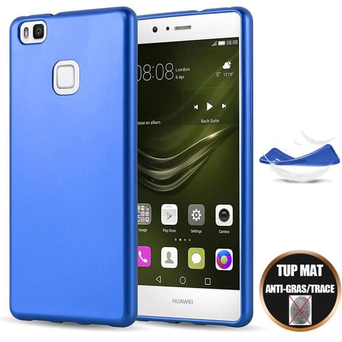 Coque Huawei P9 LITE Silicone Anti-Choc Housse Gel Protection Ultra Slim -Finition Mat Bleu
