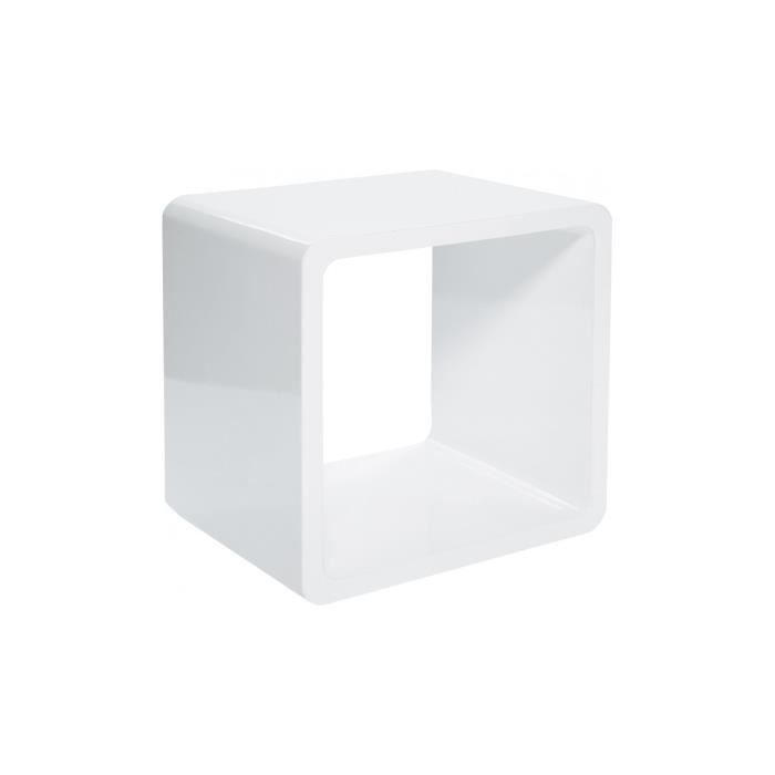 table cube blanche achat vente console table cube blanche cdiscount. Black Bedroom Furniture Sets. Home Design Ideas