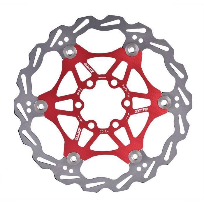 Étrier de frein à disque Accessoire VTT Kit de plaquettes Mini durable rouge