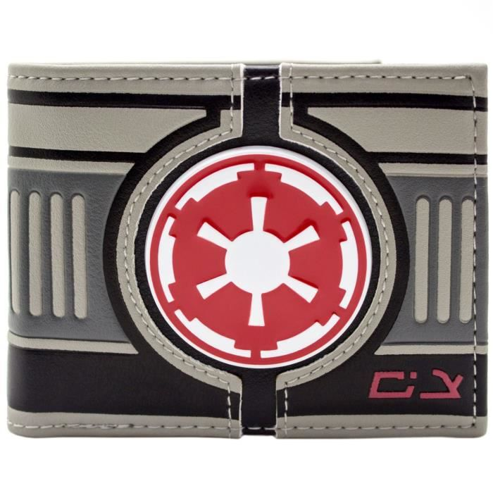 Star Wars M/étal Galactic Empire Badge Gris Portefeuille