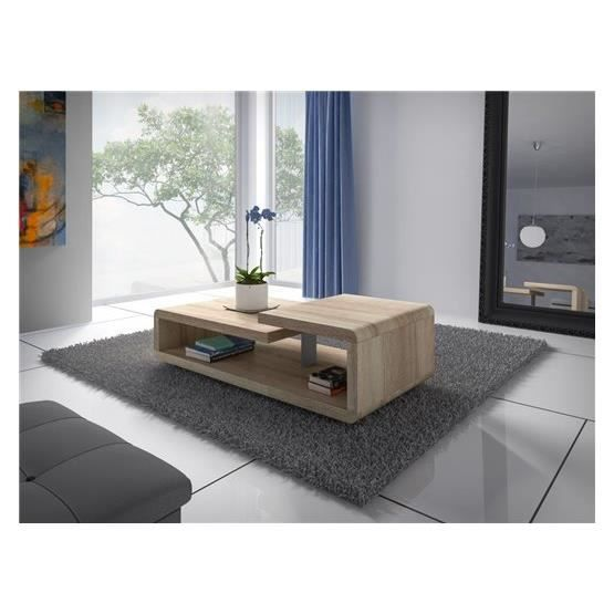 Table basse design coop bois clair achat vente table for Table ultra basse