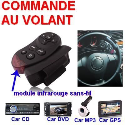 commande au volant universel sans fil mp3 cd dvd achat vente autoradio commande au volant. Black Bedroom Furniture Sets. Home Design Ideas