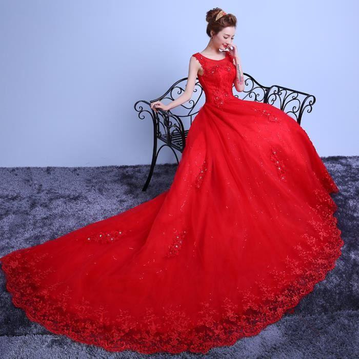 XL Nouveau Rouge De Mariage Robe 100 Cm Cathé