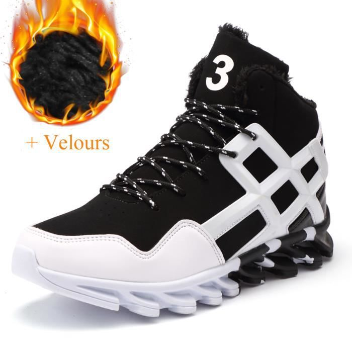Basket Hommes Mode Chaussures de course Casual Chaussures + Velours