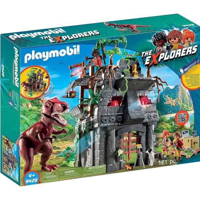 Photo de playmobil-9429-dinos-campement-des-explorateurs-avec