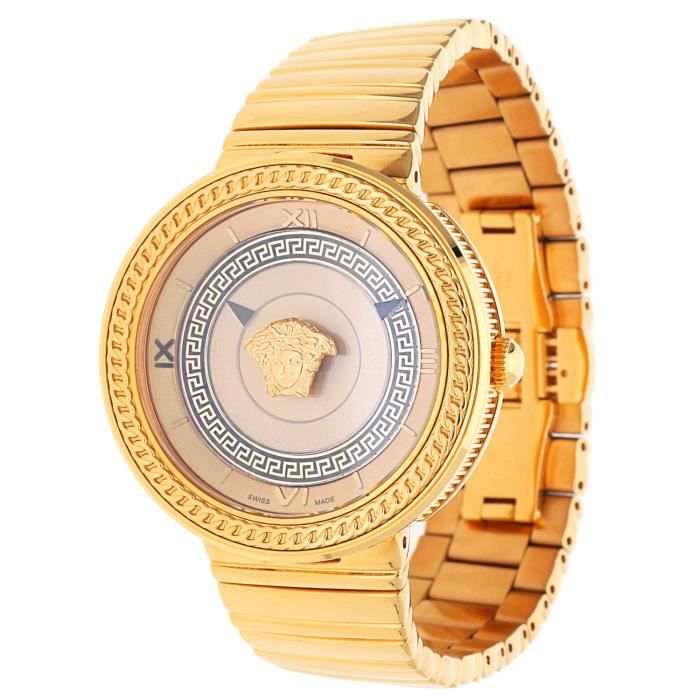 bb86ce91cd0 Versace Femmes Montre V-METAL ICON Rose Or VLC090014 - Achat   Vente ...