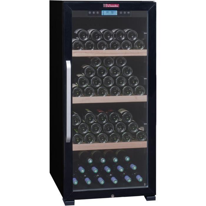 LA SOMMELIERE CTVNE142A - Cave à vin de vieillissement - 149 bouteilles - Pose libre - A - L 59,5 x H 128 cm