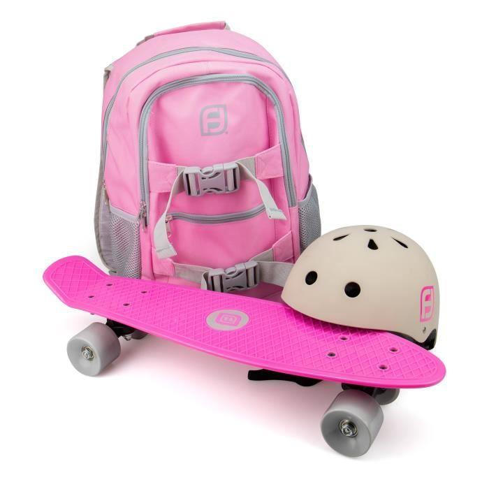 FUNBEE Skate 22- avec sac à dos + casque bol Rose