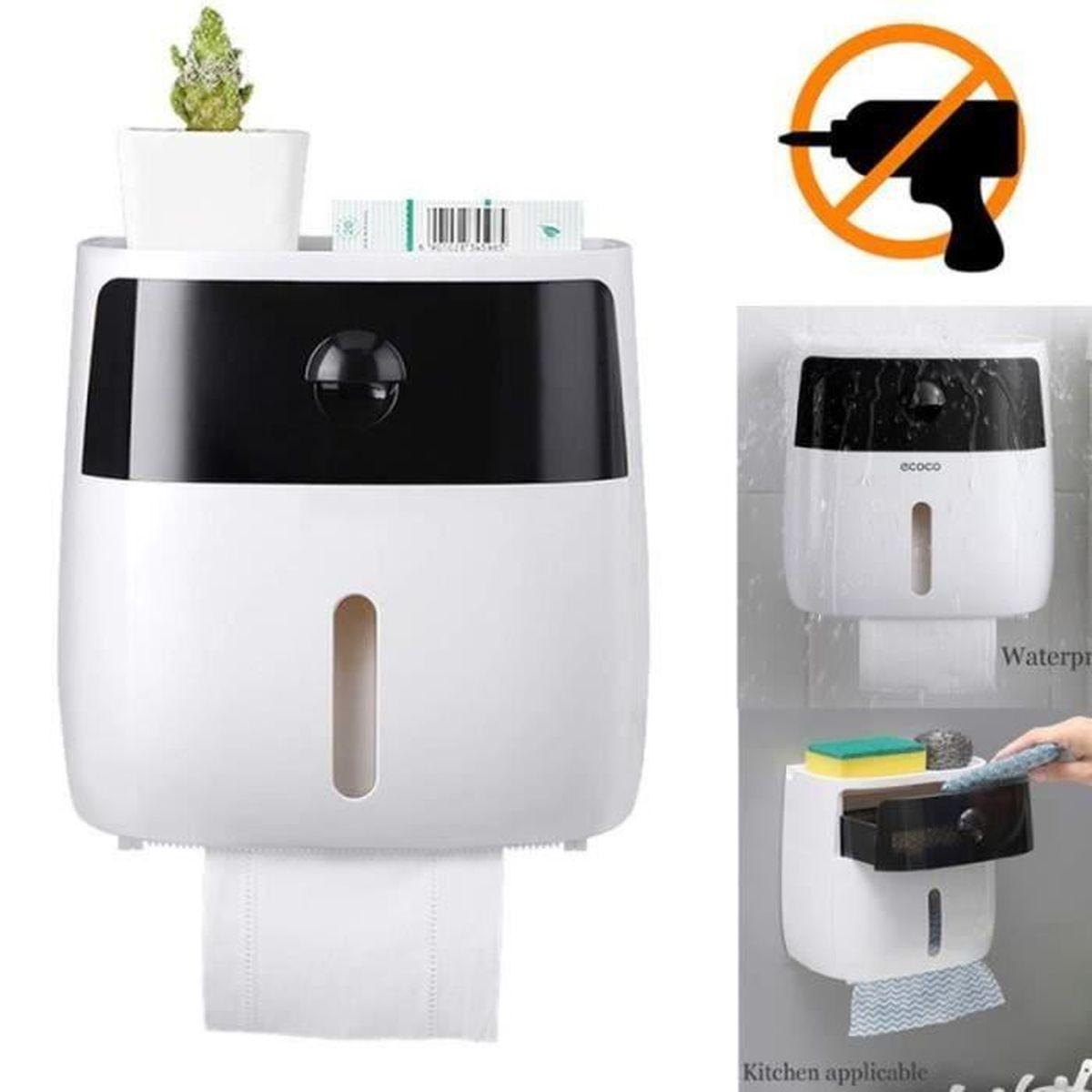 Boite Rangement Papier Wc distributeur plastique porte-papier toilette étanche