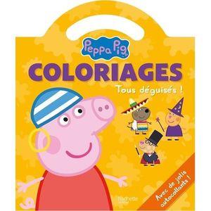 LIVRE LOISIRS CRÉATIFS Coloriages Peppa Pig. Tous déguisé ! Avec de jolis
