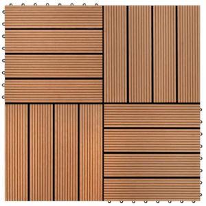 SOLS PVC Carreau de terrasse 22 pcs 30 x 30 cm 2 m² WPC Mar