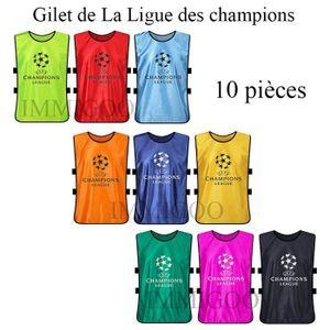 MAILLOT DE FOOTBALL Lot de 10 Pieces Gilet de La Ligue des champions M