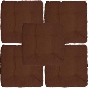 COUSSIN DE CHAISE  Set x5 Galettes de chaise Outdoor 40 x 40 x 8 cm -