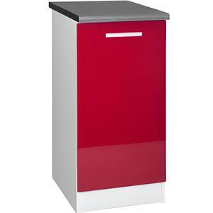 ELEMENTS BAS Meuble cuisine bas 40 cm 1 porte TARA rouge