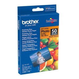 PAPIER PHOTO BROTHER Papier photo - Blanc brillant - 100x150mm