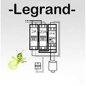 DISJONCTEUR Option chauffe-eau électrique pour tableau Legrand