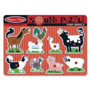 PUZZLE Melissa & Doug - 10726 - Puzzle Sonore - Animaux D