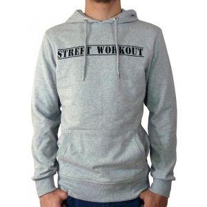 Street Workout Sweat a capuche gris logo Achat Vente