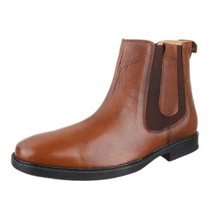 BOTTINE homme botte chaussure cuir bottine Chelsea marron