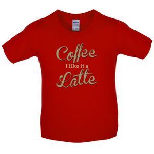 T-SHIRT Dressdown - Coffee I Like It A Latte - T-Shirt Enf