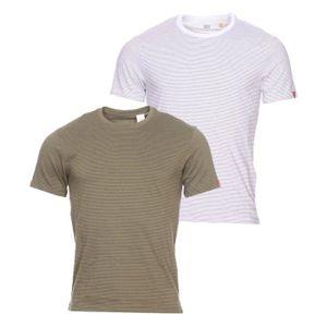 T-SHIRT Lot de 2 tee-shirts Levi's Slim en coton vert kaki