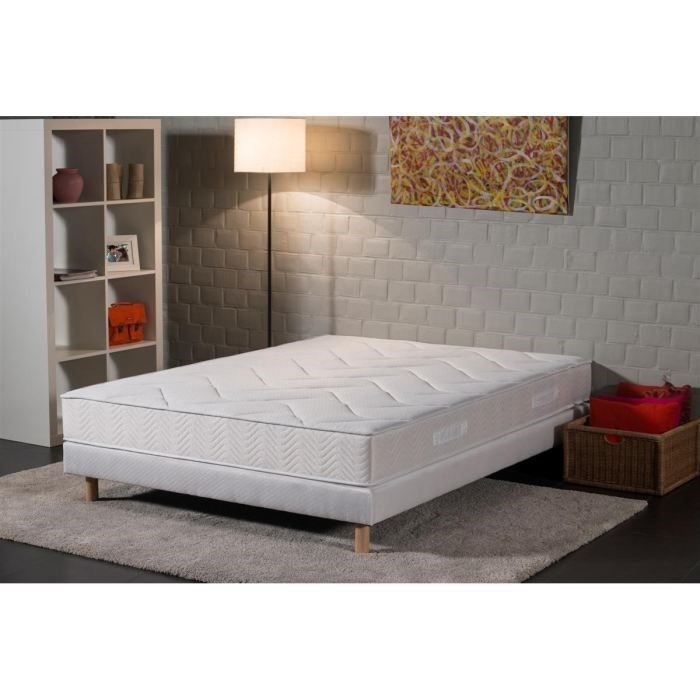 deko dream ensemble matelas sommier 160x200cm 19cm latex mousse confort ferme 80 kg m. Black Bedroom Furniture Sets. Home Design Ideas