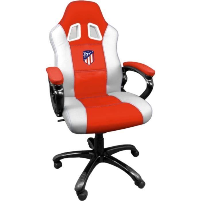 de bureau Madrid Chaise gaming gamer avec pivotante Atletico Fauteuil ergonomique assise jeu ATM de baquet Siege et de E2YWDHI9