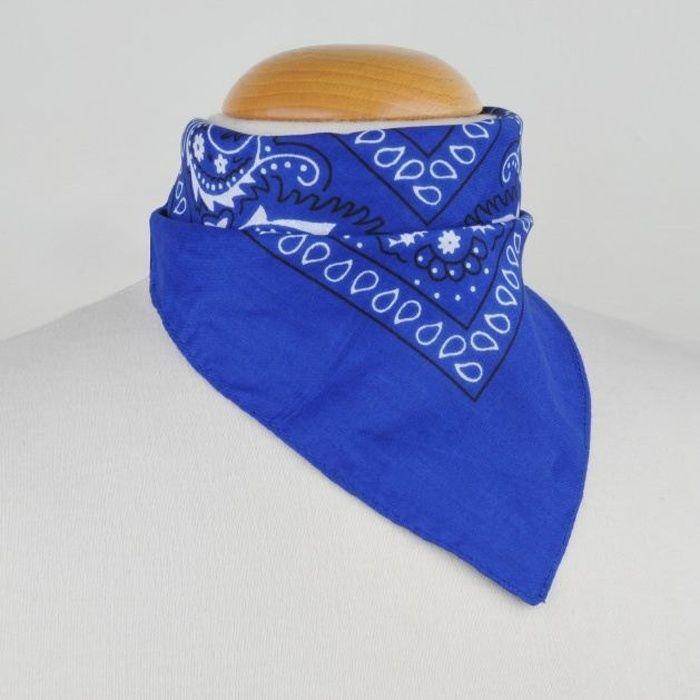 Foulard bandana bleu