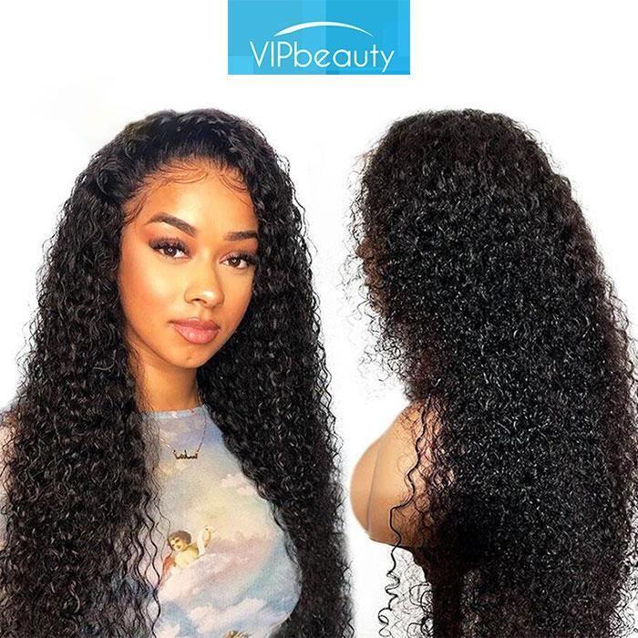 Perruque Cheveux Humain Bouclé 4*4 Lace Frontal Perruque Femme Cheveux Brésilienne Vipbeauty Hair 22 Pouces