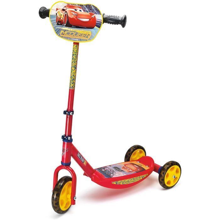 Smoby - Disney Cars 3 - Patinette 3 Roues - Trottinette Enfant - Roues Silencieuses - 750154