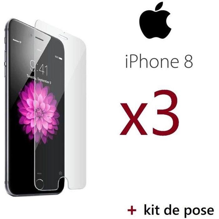 vitre protege ecran verre trempé pour iphone 8