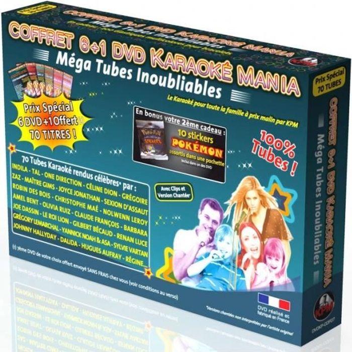 Coffret 6 DVD +1 Karaoké Mania -Mega Tubes Inoubliables 2- + 10 Stickers POKÉMON