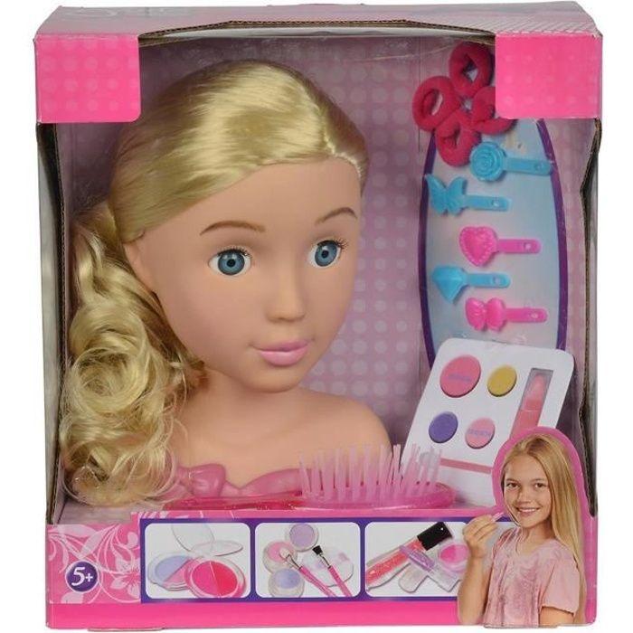 Simba Toys 105560029 Tête à coiffer et maquiller avec accessoires