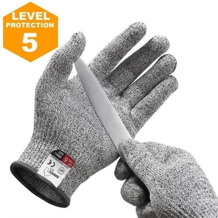 Gants Anti-Coupure, Protection De Cuisine Bricolage 1 Paire - Taille S
