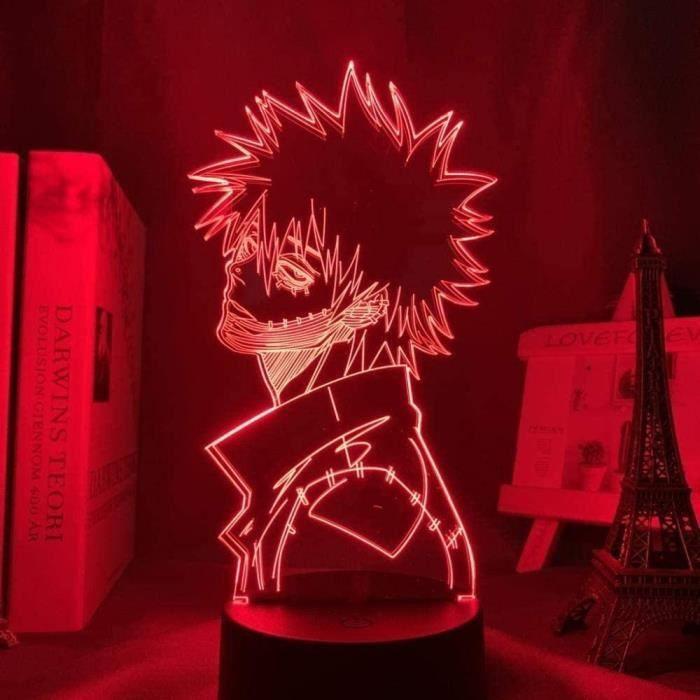 Acrylique 3d lampe Anime My Hero Academia Dabi Led Lumière pour Chambre Décor Cool Manga Cadeau pour Lui RVB Coloré Night Light Dabi