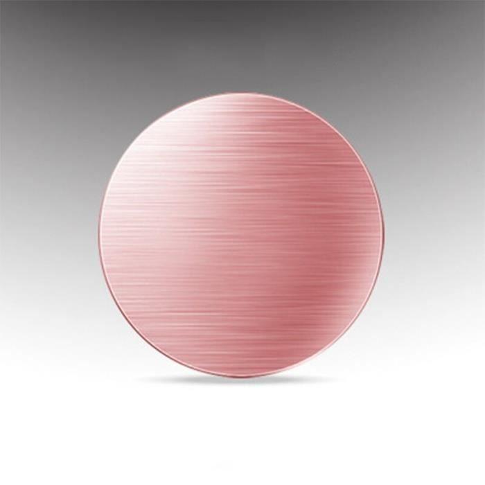 Supports voiture,Ikescargot plaque métallique magnétique Pour téléphone de voiture, support GPS 40*40mm, support - Type rosy gold