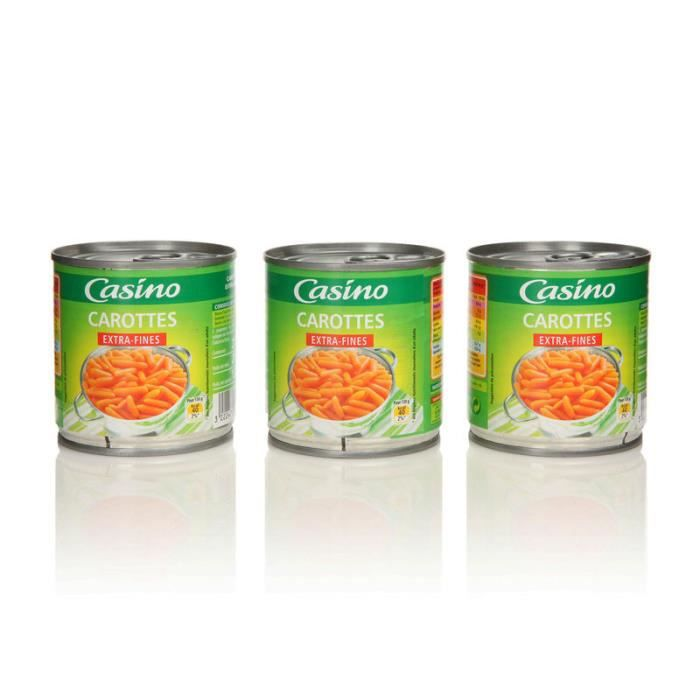 Lot de 3 carottes extra-fins - 130 g