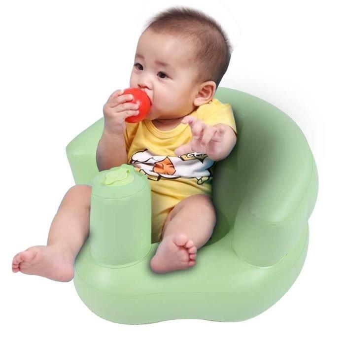 EJ.life Sofa Gonflable de Chaise Siège de Bain Gonflable pour Bébé avec Pompe Intégrée Fauteuil de Jeux pour Enfants (Vert)