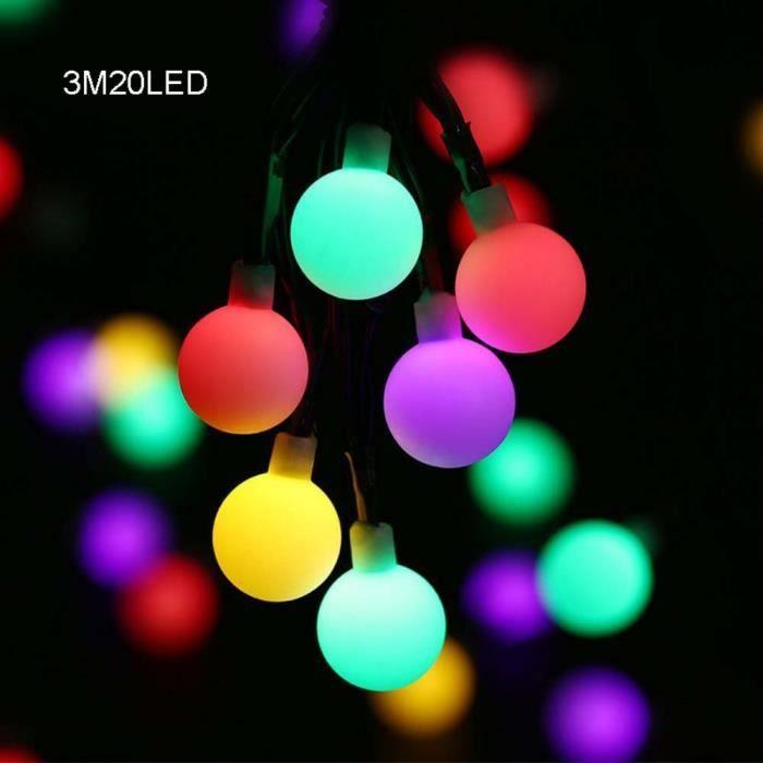 Guirlande Lumineuse, 20 LED Ampoule Boule Fée Guirlandes Lumières Boîte À Batterie Jardin Extérieur Intérieur Noël, 3M