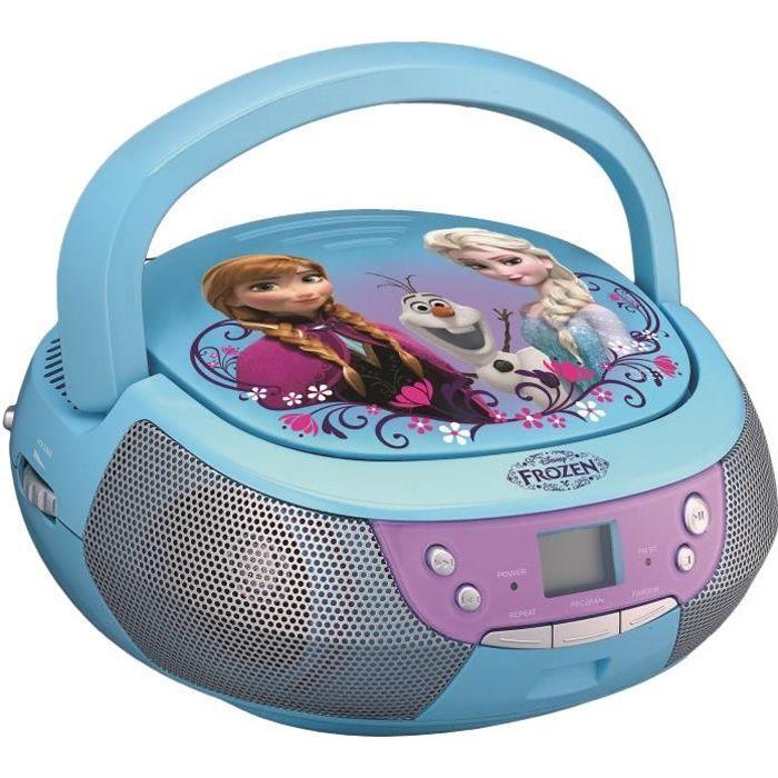 REINE DES NEIGES CD Boombox Lecteur CD avec un microphone