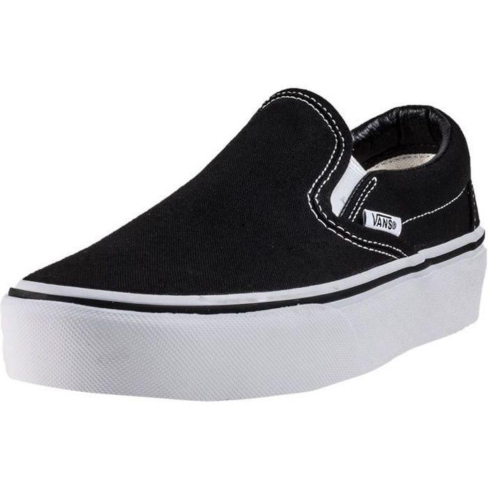 Vans Classic Slip-on Platform Femmes Chaussures sans lacets Noir Blanc - 6 UK