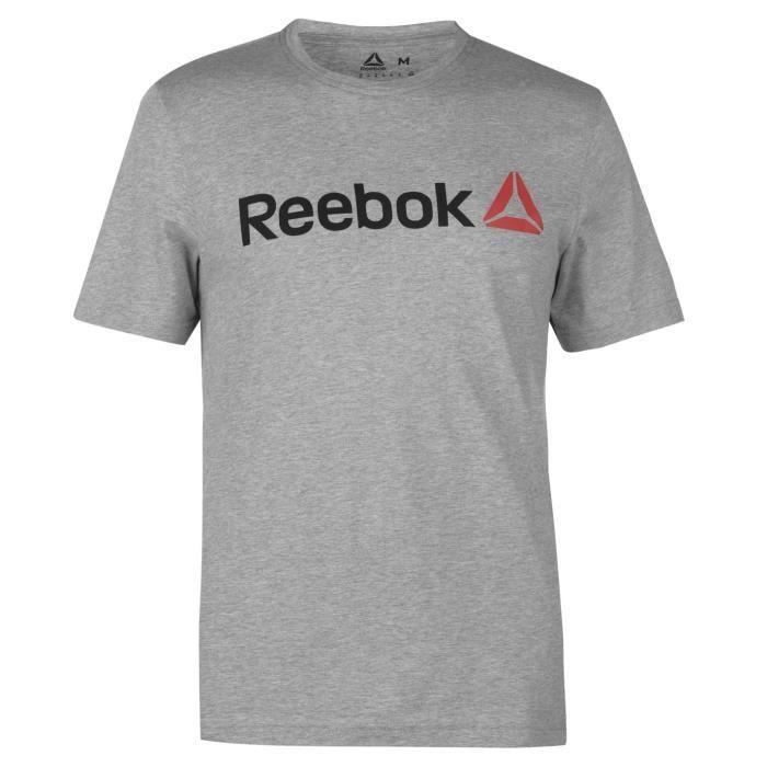 Reebok Delta Logo T-Shirt Col Rond Manche Courte Hommes