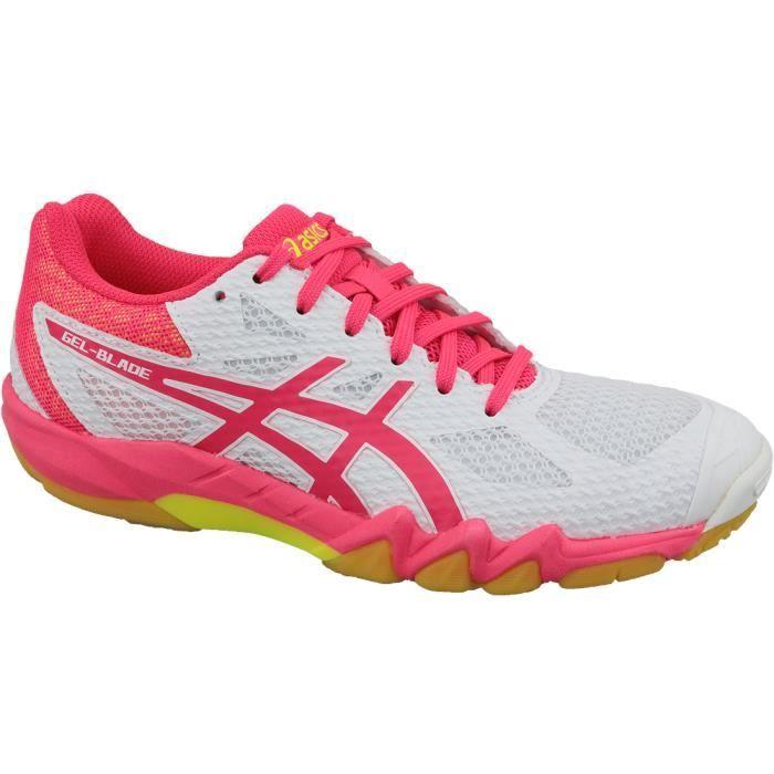 Asics Gel-Blade 7 1072A032-100 chaussures de squash pour homme Blanc