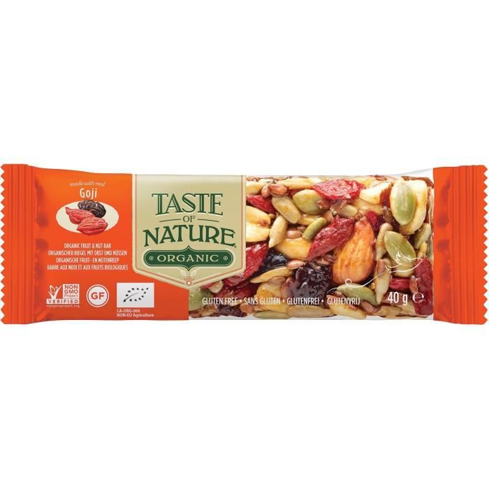 TASTE OF NATURE Barre Baie de Goji Bio 40 g